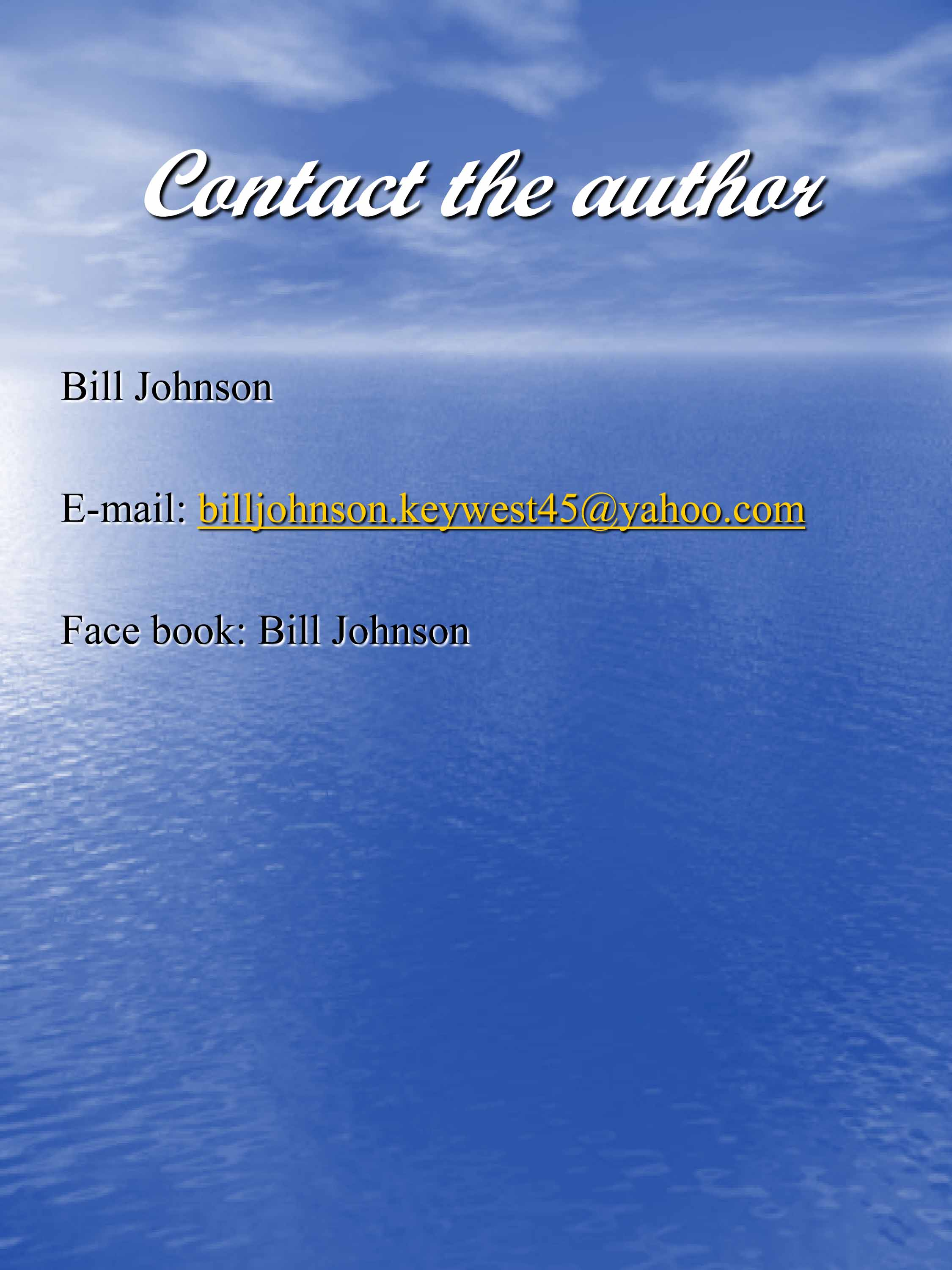 11 Contact the Author